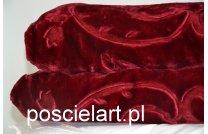 Koc akryl tłoczony bordo