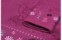 Ręcznik Kwiatek bordo