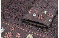 Ręcznik Kwiatek brąz