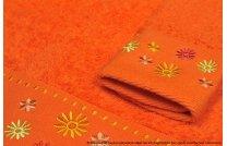 Ręcznik Kwiatek pomarańcz