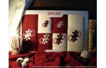 Kpl. ręczników Simbioze bordo